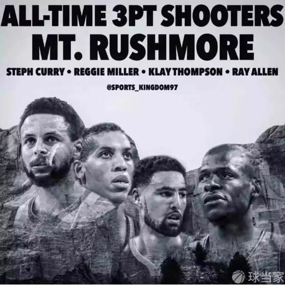 NBA歷史三分射手總統山,大家怎么看。