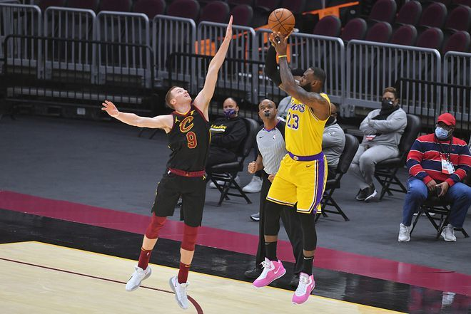 NBA今日最佳单场46分,伟大的詹姆斯